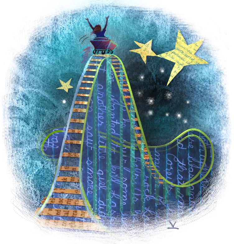 Switchbacks blog rollercoaster illo