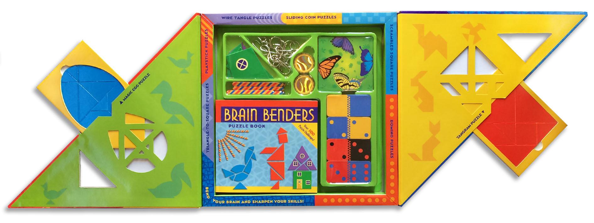 brain benders book design